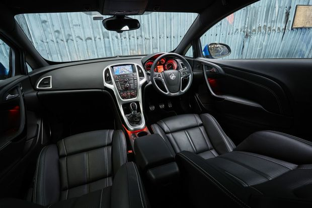 Inside the Holden Astra VXR.