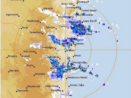 The Bureau of Meteorology radar at 8.21am this morning.