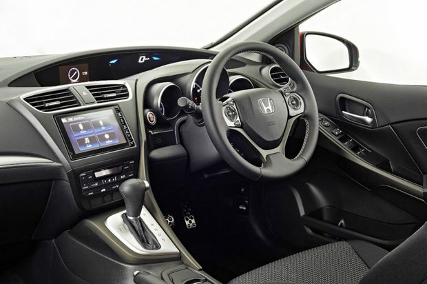 Inside the 2015 Honda Civic.