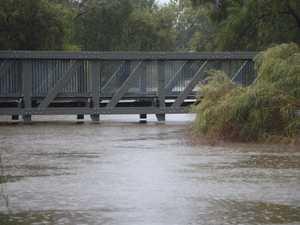 Rain pours down across Dalby