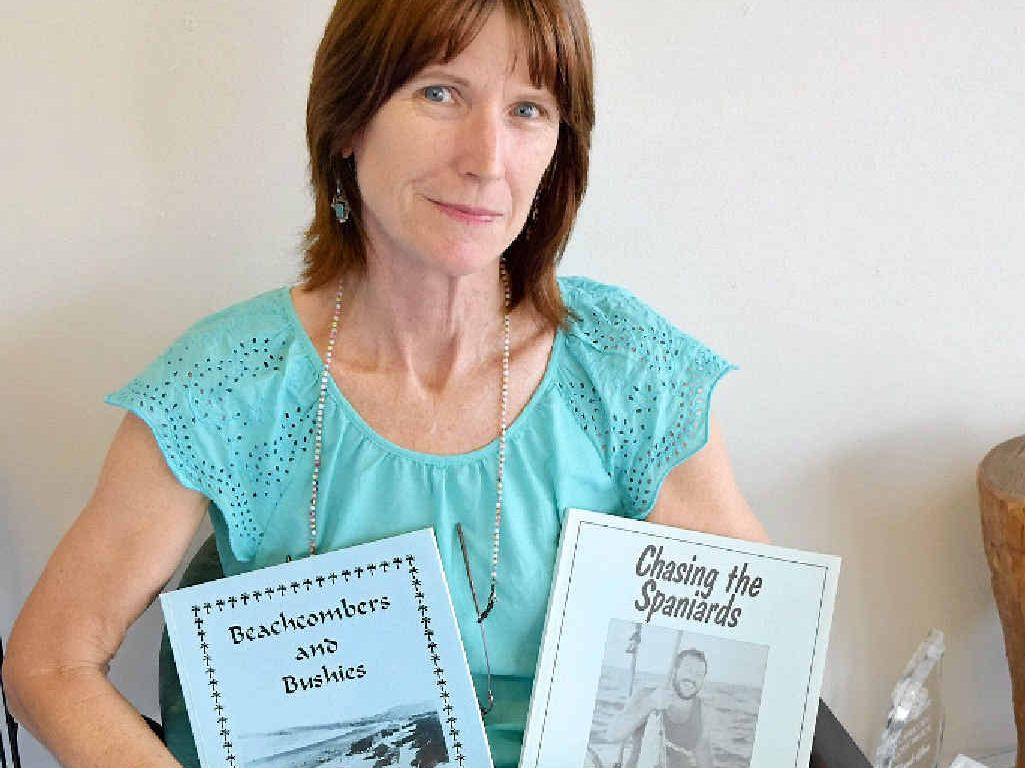 MANY MEMORIES: Margot Gundrum has reprinted some of her father's books he wrote many years ago about his memories of Yeppoon.
