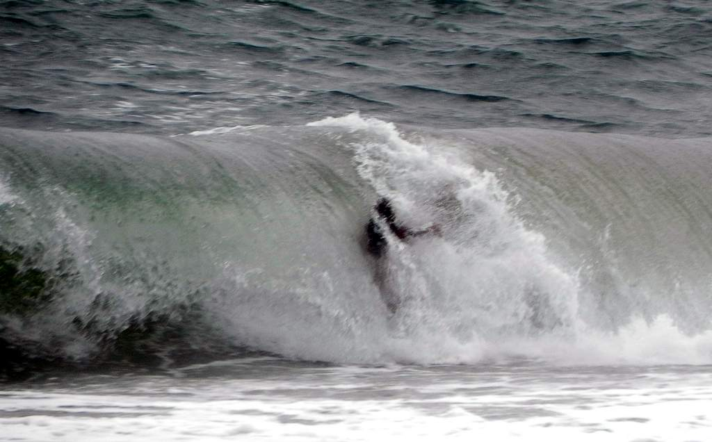 Big surf off Mooloolaba.