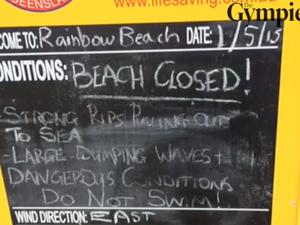Wild weather at Rainbow Beach