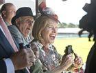 Gai Waterhouse watches her horse Pornichet win the 2015 Toowoomba Cup.