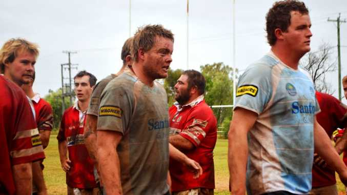 EXHAUSTIVE WIN: Barely any players walked off the Gallas Fox Park paddock today not covered in mud after the A-Grade Echidnas beat St George 17-15.
