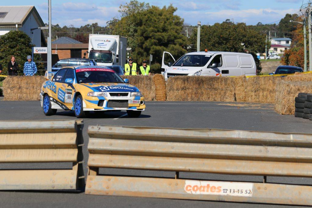 Rob Balint and Peter Lane from Team Betta Warwick on day 1 of Targa Tasmania. Photo Mark Lewis