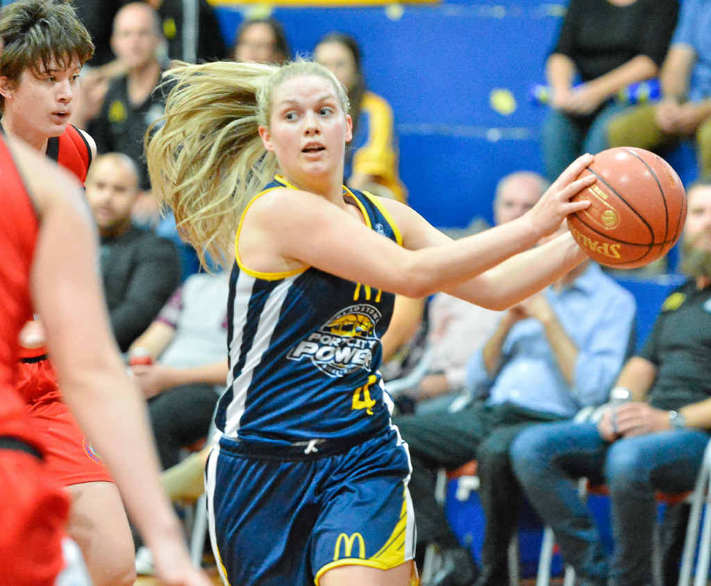 PERFECT START: After a summer of shooting alone in the gym, Maddy Willey scored plenty along with imports Samarie Walker and Tierra Henderson to upset Mackay.