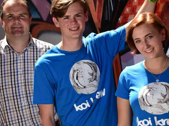 UP TO CHALLENGE: Jack Smith and Issy McSwain are starting Koi Krew with the help of Ted O'Brien and Generation Innovation.