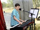 The Ipswich Country Music Festival hosted by the Rotary Club of Booval. Singer Chandler Jay Mowles, 10, of Brisbane. Photo: David Nielsen / The Queensland Times