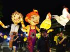Ipswich Festival parade in Ipswich on Saturday night. Photo: Rob Williams / The Queensland Times