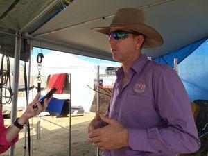 Handcrafted saddle maker at Beef Australia 2015