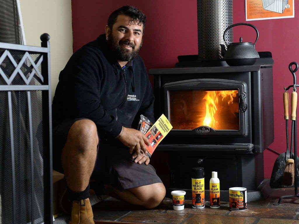 WARMING UP: Ipswich Skylights director Nicholas Scott talks about wood heaters.