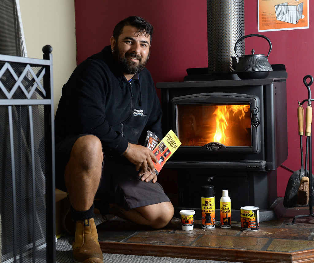 WARMING UP: Ipswich Skylights director Nicholas Scott talks about wood heaters.