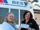 A HEFTY grant from BEST Employment's Best in Community funding scheme will go a long way to helping Corina Graham achieve her goal of helping people connect.