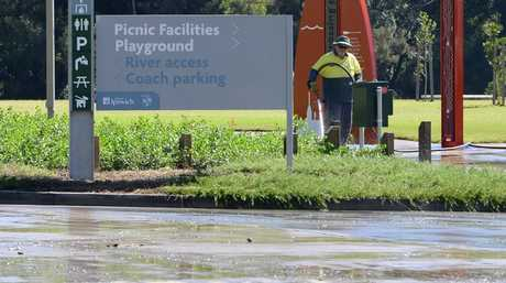 Colleges Crossing is still closed due to the rain on Friday. Photo: Rob Williams / The Queensland Times