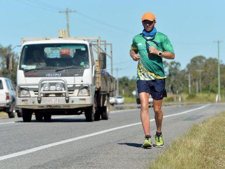 Dave Alley running around Australia.