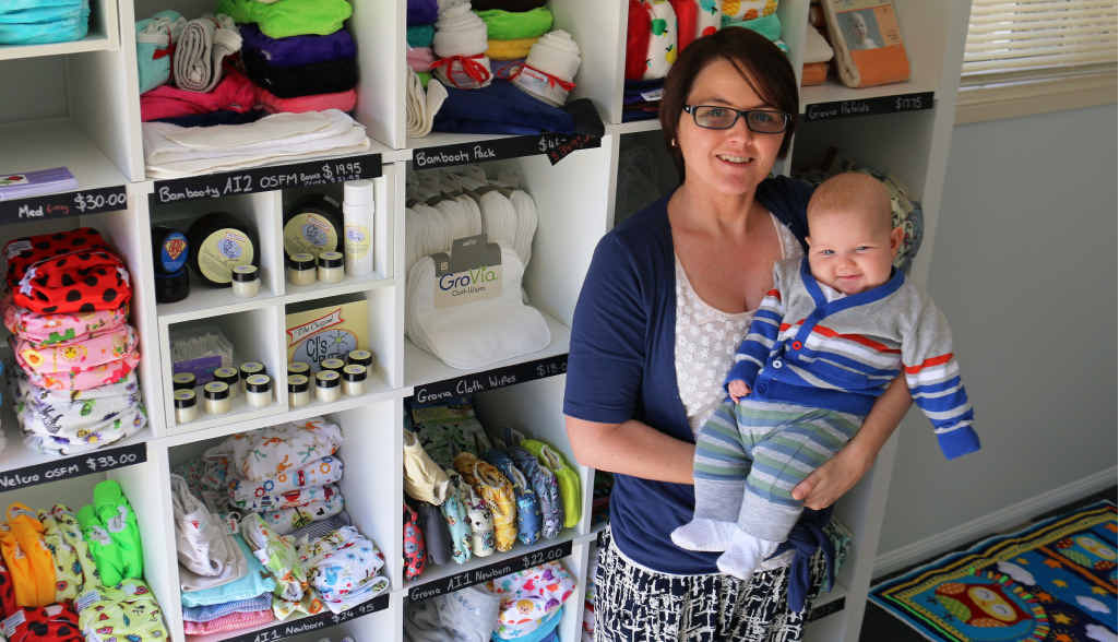 START-UP: Boambee mother Jessica Smith started her company Little Cloth Kids after she consulted ETC Business.