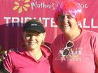 THINK PINK: Organiser's Tania Field and Kym Marsden don pink for the cause.