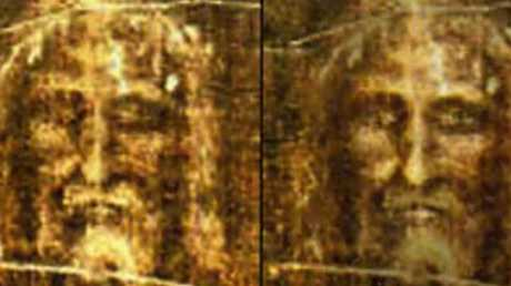 Using the Turin Shroud, the supposed burial cloth of Jesus, police investigators have generated a photo-fit image from the negative facial image on the material