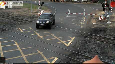 A near miss at a Central Queensland rail crossing.