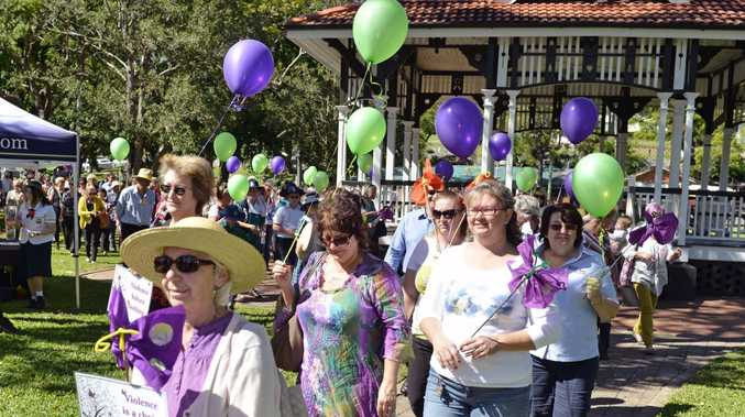A march against domestic violence in Gympie