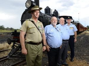 Go back to the time of Anzac with troop train re-enactment