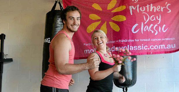 RUN AGAINST CANCER: Devon Hansen and Zarly Steffensen are ready for Kingaroy's Mother's Day Classic.