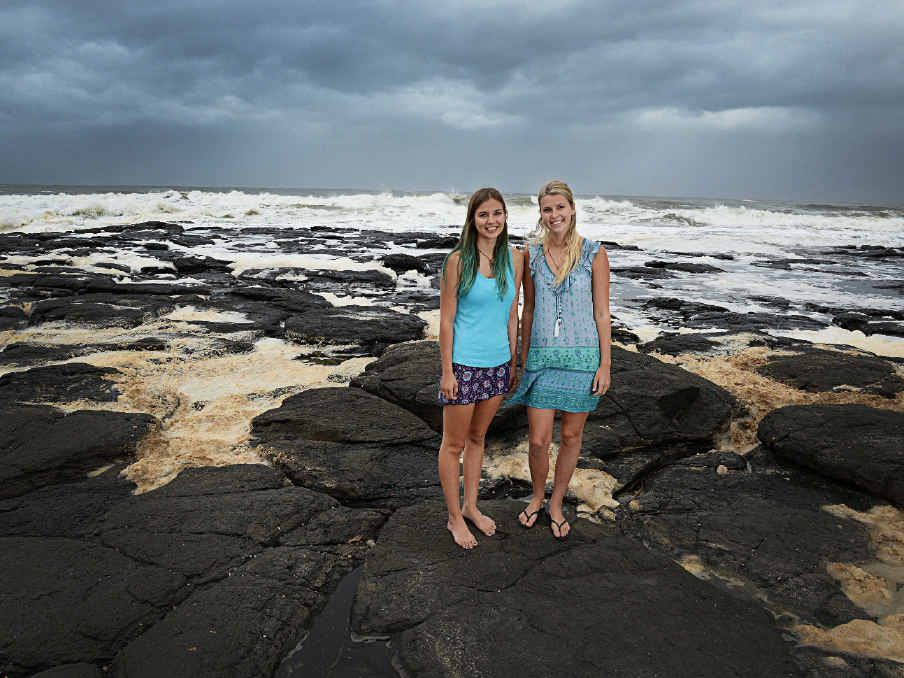 SHARK ADVOCATAES: Gabrielle Nieuwenhof and Shanice Stevens, who are both studying a Bachelor of Marine Science and Management at Southern Cross University, are also promoting awareness for the conservation of sharks.