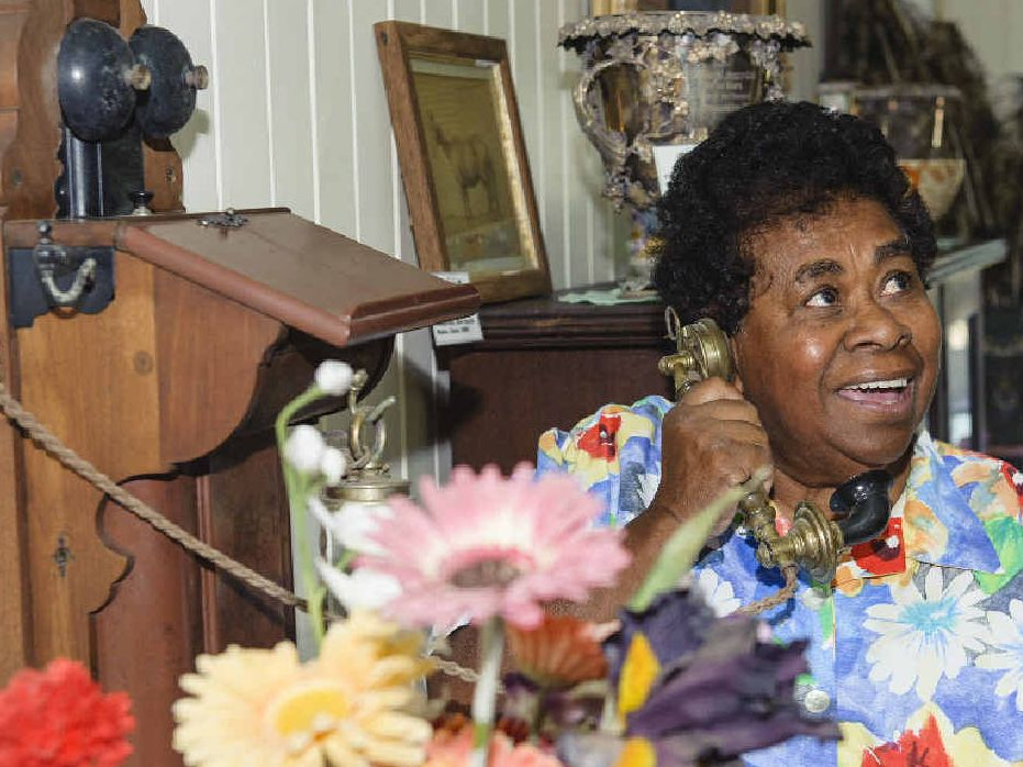 Few people know more about Greenmount Homestead than Gloria Arrow, who came to the house in 1958 as a 17-year-old live-in housemaid and worked for the family until 1983. Ms Arrow still lives at Greenmount. The pianola behind her was a wedding gift from Tom Cook to his wife Dorothy.