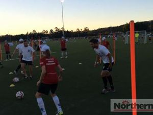 Harry Kewell coaching at Lismore