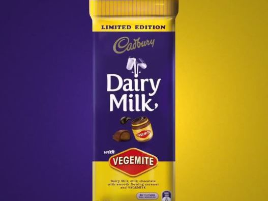 A match made in heaven? Vegemite and Cadbury team up.