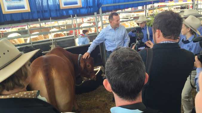 Prime Minister Tony Abbott at Beef Australia 2015 at Rockhampton Showgrounds