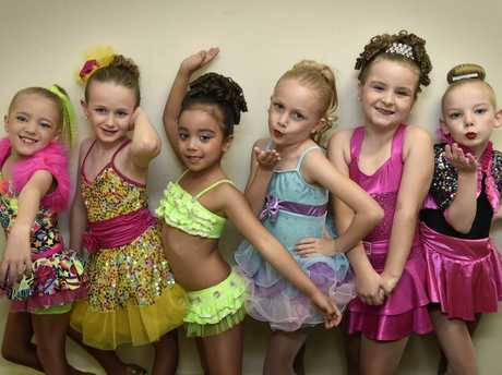 READY TO DANCE: Competition has started in the dance section of the City of Toowoomba Eisteddfod for (from left) Claire Ryan, Charlotte Graham, Kirrarlyn Strudwick, Miranda Brown, Ellianna Wendt and Grace Bird.