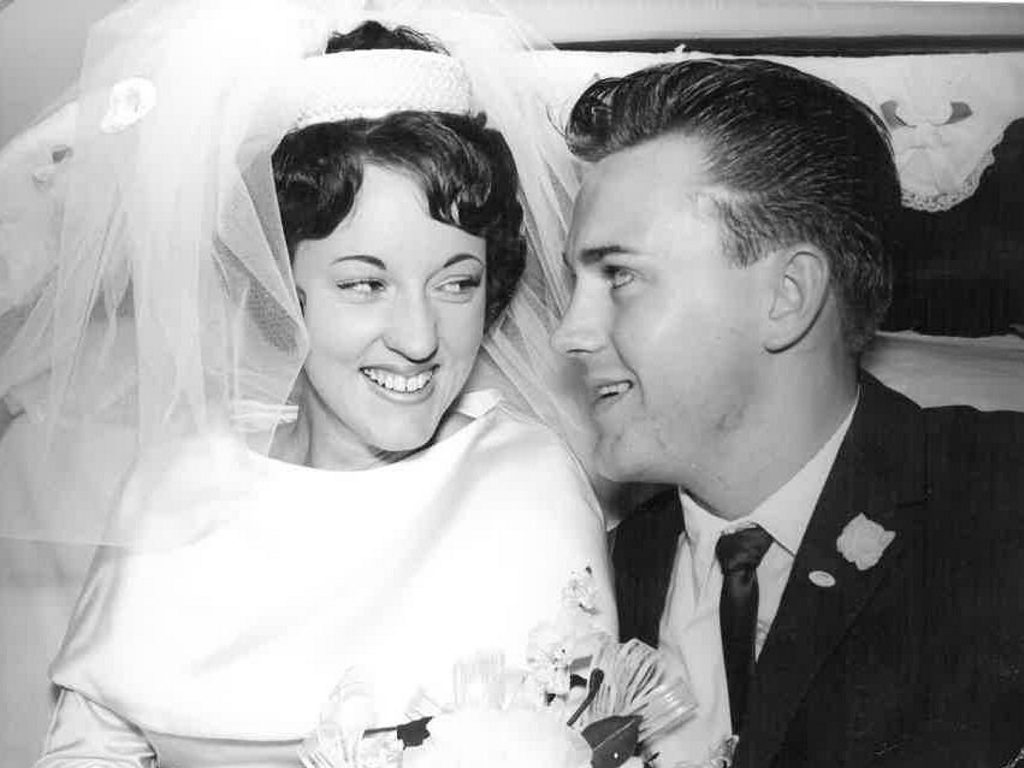 Trevor and Gwenda Lymbery were married at St Peters Church of England Gympie