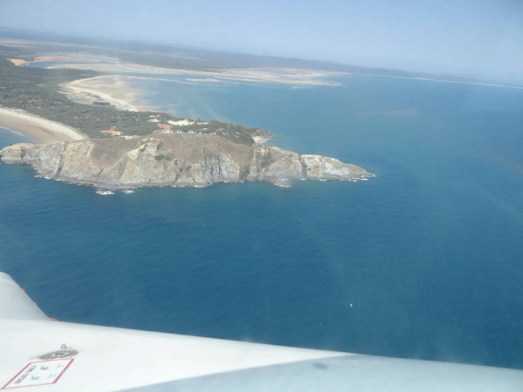 Hugh Bridge loves flying over Yellow Patch on Curtis Island and Cape Capricorn.