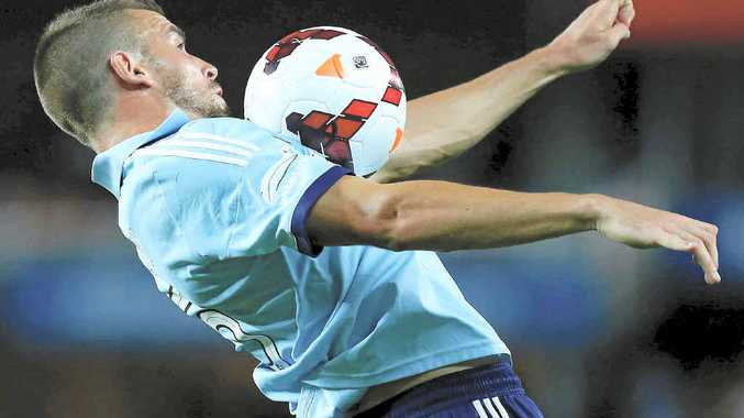 REACHING FOR THE SKY: Matt Jurman is confident the Sky Blues can overcome Adelaide United in tonight's final.