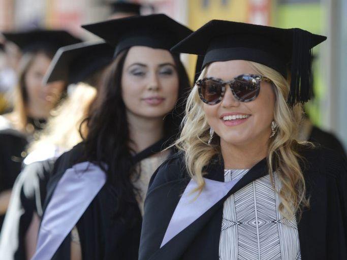 USQ graduates march. Photo Inga Williams / The Queensland Times