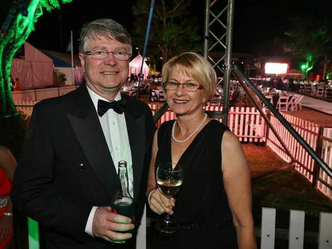 L-R Michael Keating and Judy Keating at the Gala Beef Ball. Photo Liam Fahey / Morning Bulletin