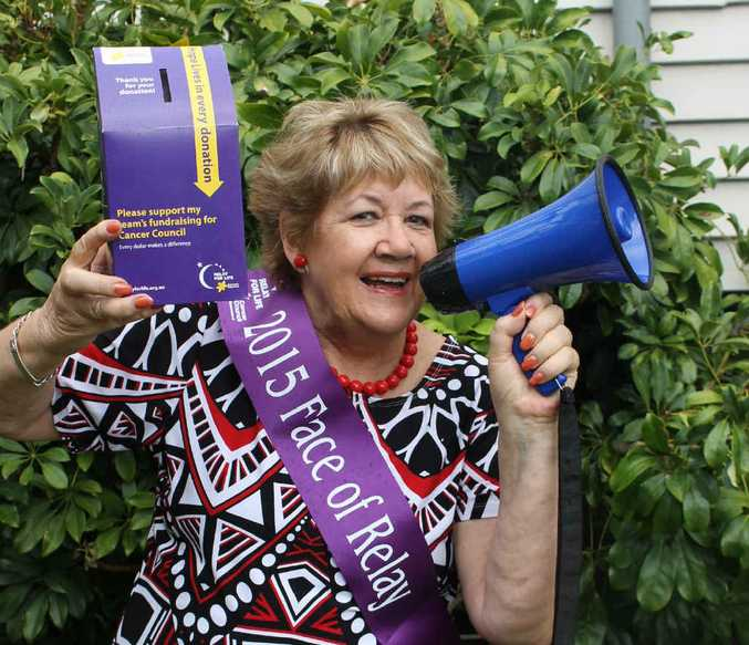 SPREADING THE WORD: Pauline Stait is one of the faces of the 2015 Rockhampton Relay for Life.
