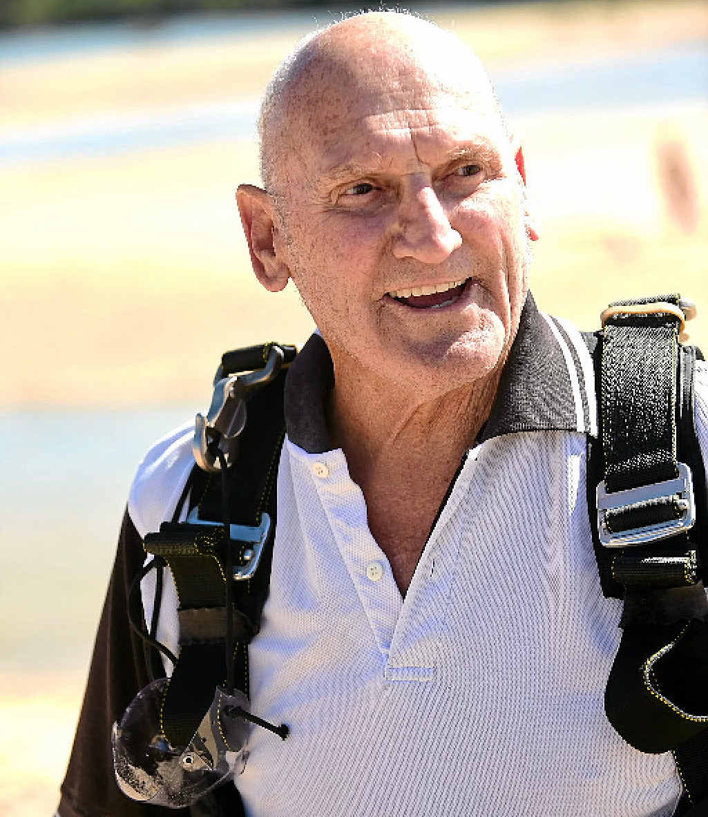 BUNDLE OF ENERGY: George Lavendar, 80, can take skydiving off his bucket list.