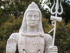 The upset neighbour compared the statue of the Hindu god Shiva to a Nazi swastika.