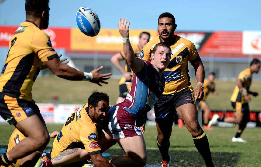 STAND-OUT PLAYER: Josh Chudleigh performed well for the Mackay Cutters in today's loss to Tweed heads.
