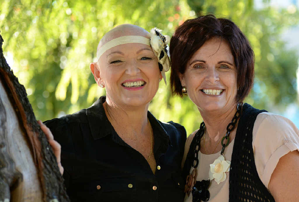 Tanya Cavell is surrounded by a caring group of friends, including Karen O'Neill, who have supported her throughout her cancer treatment.