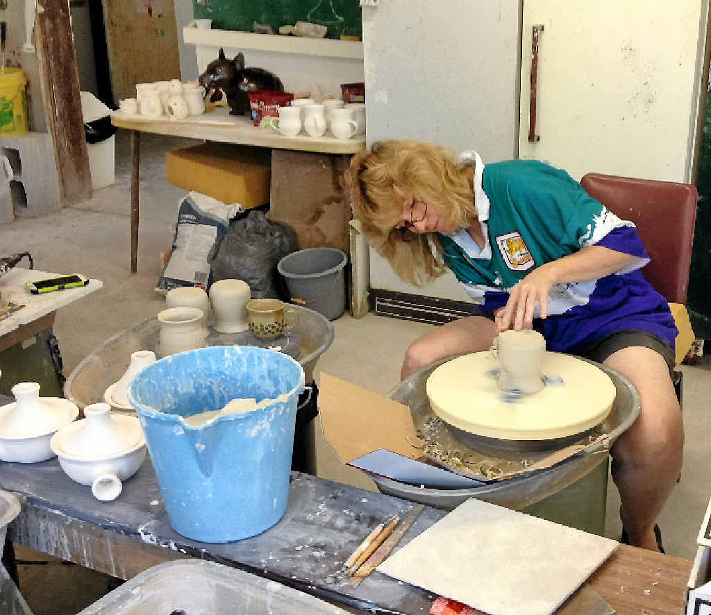 SECOND HOME: For Jude Kennedy, the Potters Place on Dawson Road is her special place.