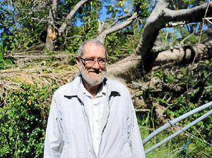 VIDEO: Eric's backyard still lost to tree debris from Marcia