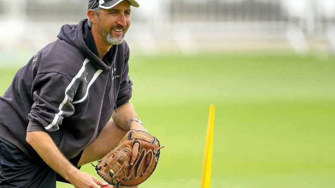 RIGHT MAN: Jason Gillespie looks on during a Yorkshire training session.
