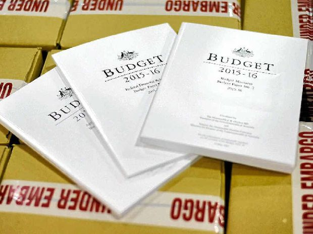 THE FUTURE IN A BOX: The embargoed Budget papers to be presented tonight.