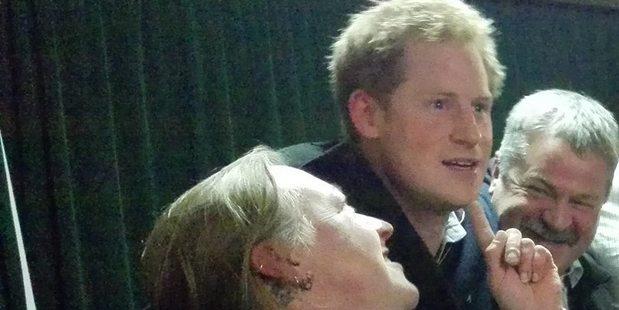 South Sea Hotel quiz mistress Vicki Coats with Prince Harry.