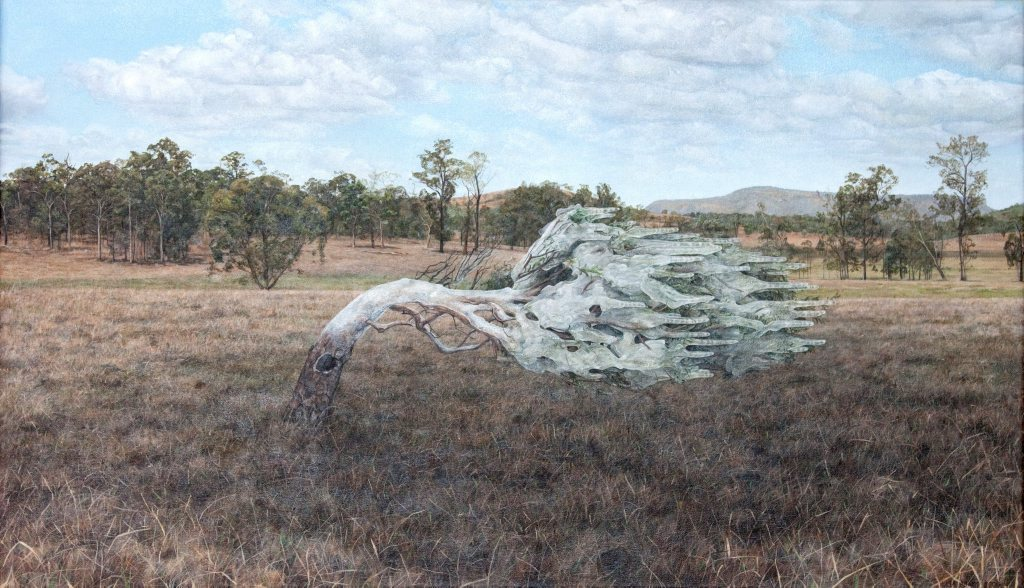 ART ATTACK: Lisa Adams' painting Cold Wind around Sunshine Coast will feature at the Tattersall's Club exhibition at the Stanthorpe Regional Art Gallery.