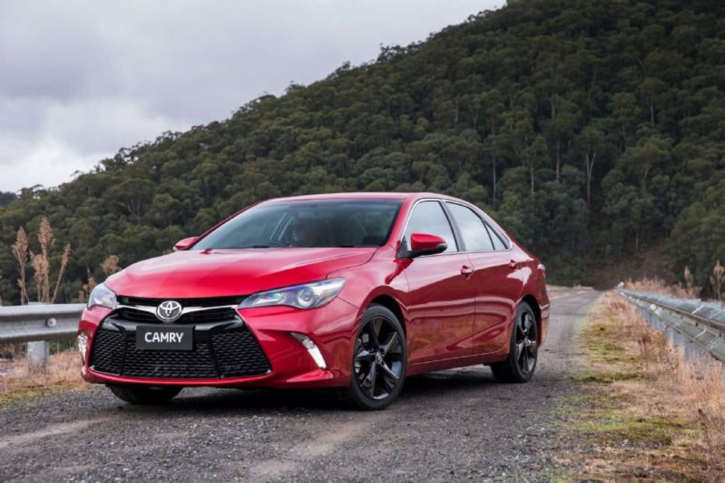 The 2015 model Toyota Camry.